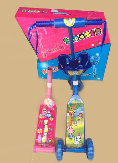 Самокат,с корзиной,3 колеса.Два цвета-розовый,синий.(A00287*)W107-H36002.