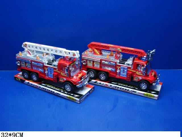 Машина инерц.Пожарная под слюдой.(8825-8)