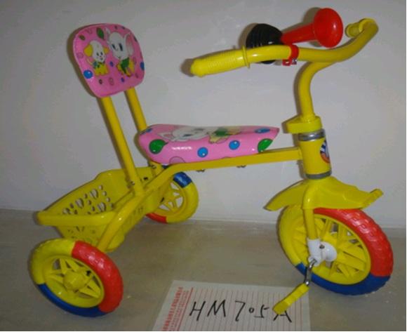 ##Велосипед 3-х колесный.Цвет желтый с розовым.в кор.4 шт.(9051027-М*) Цена за 4 штуки.