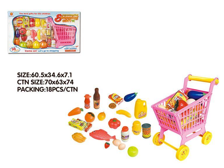 ##Супермаркет,в кор.»Тележка»продукты,аксессуары.(XG2001A)