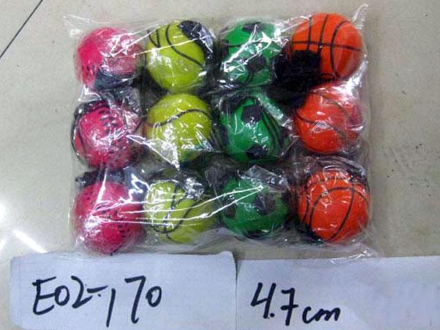 **Мячик на веревочке.12 шт-по 22 руб.(Т00713) Цена за 12 штук.