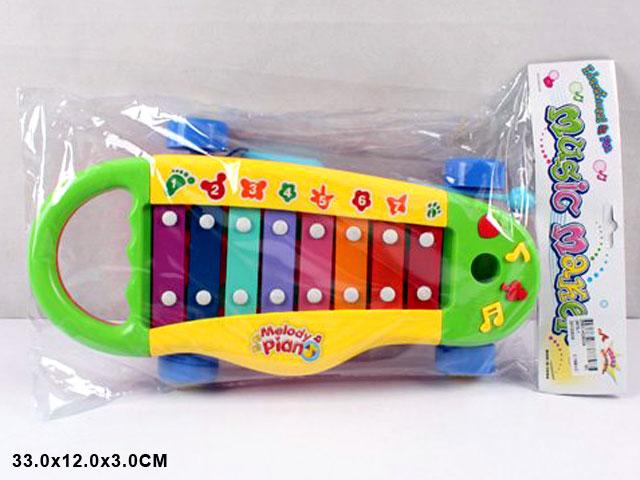 **Ксилофон в пакете.»Детская машина».(Н0675-1)
