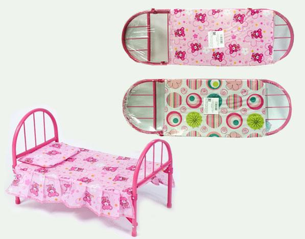 Кровать для кукол металическая(9342)