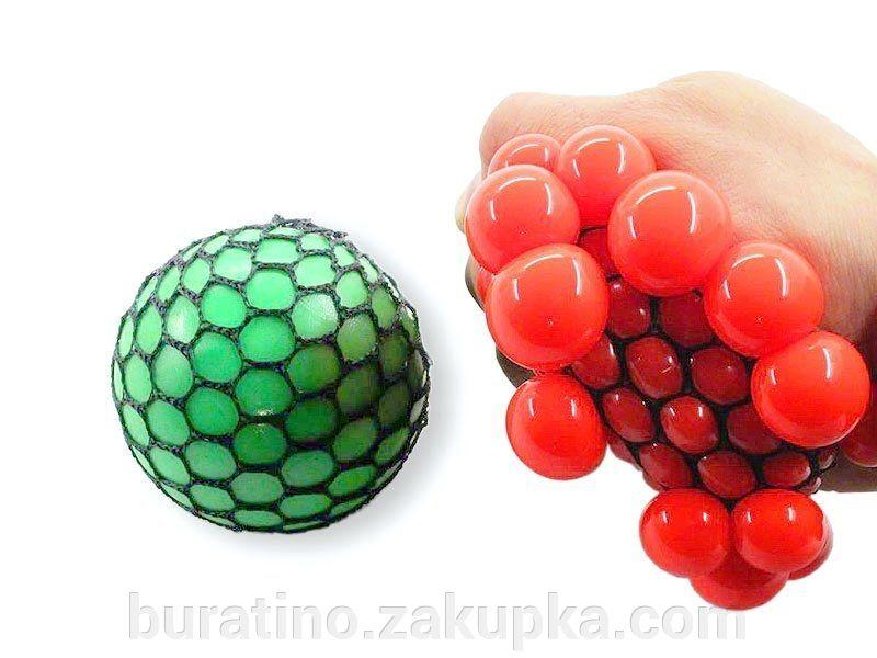 Лизун в сетке,анти стресс,разные цвета.,в упак.12 штук.(Л040)
