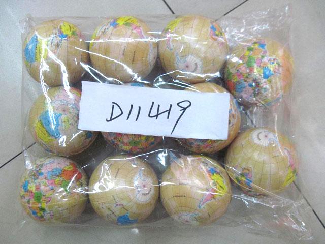 **Мячик»Глобус»12 шт-по 27 руб.(Н11419) Цена за 12 штук.
