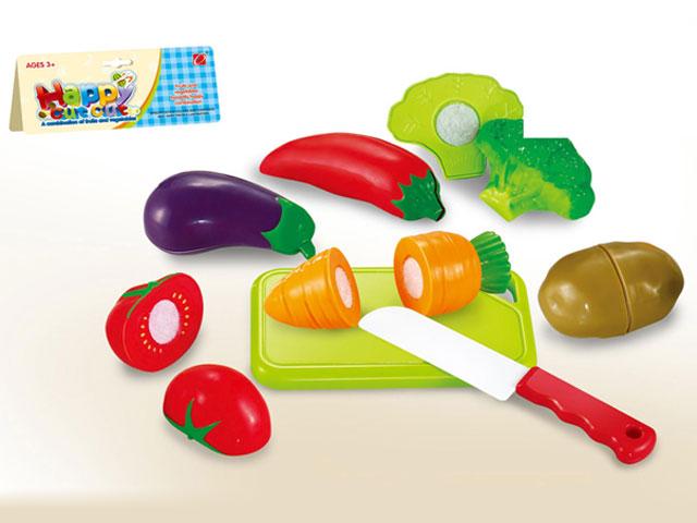 **Набор «Овощи»на липучке с ножом.(Д916А)