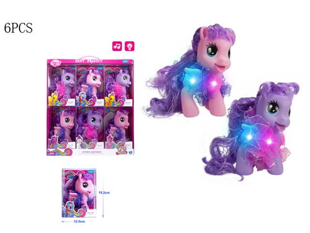 **Пони,свет. 6 шт-по 220 руб.(Д88248) Цена за 6 штук.