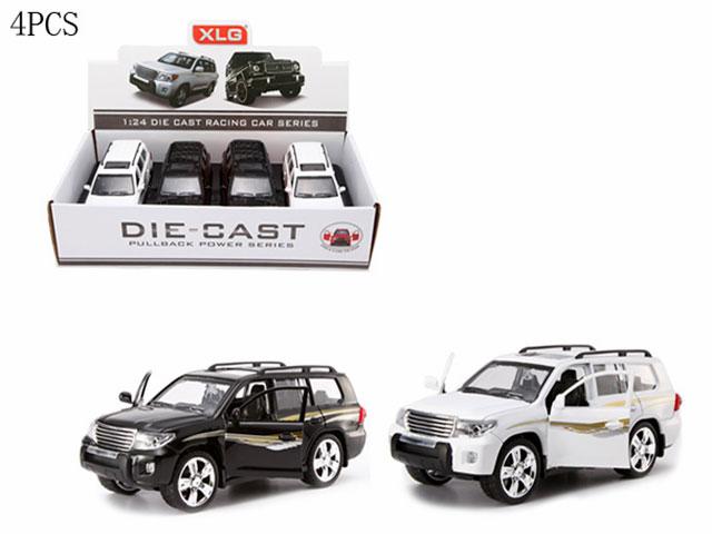 **Машина метал.»Тойота ленд крузер 200″Размер 1:24. 4 шт-по 470 руб.Открываются передние двери.Звук.(А923Ж) Цена за 4 штук.