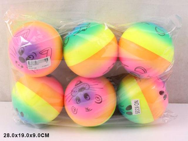 **Мячик»Мордочка»6 шт-по 53 руб.(Н6335) Цена за 6 штук.