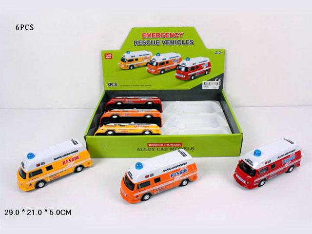 **Автобус металл,инерц.свет.звук. 6 шт-по 230 руб.(А5588-12) Цена за 6 штук.