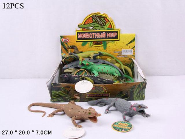 **Набор животных»Ящерица резиновая»12 шт-по 78 руб.(Н7207)Цена за 12 штук.