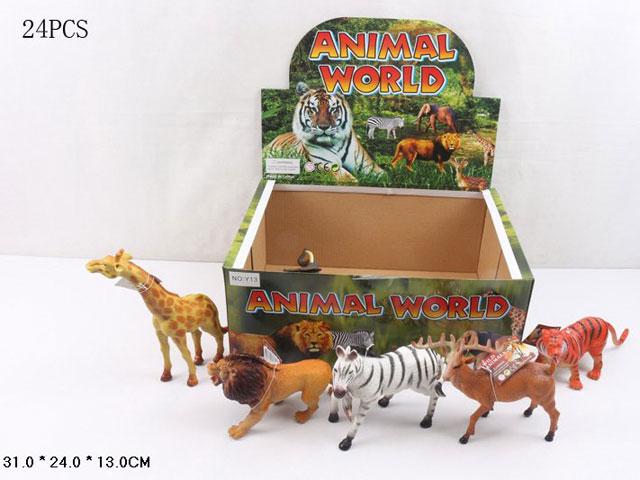 **Животные дикие.24 шт- по 60 руб.(НУ13) Цена за 24 штуки.