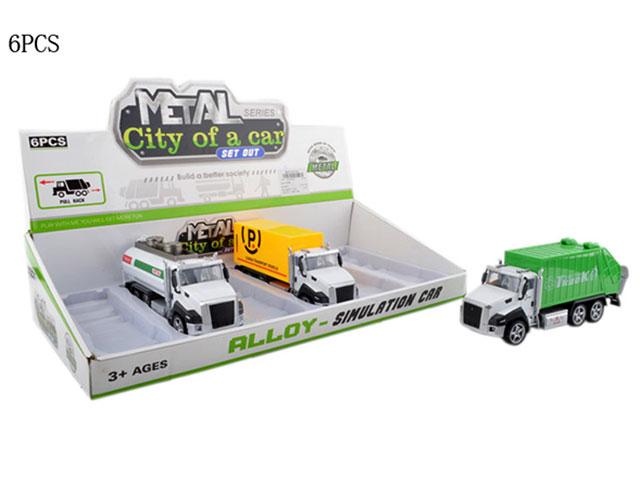 **Машина»Городской транспорт»метало-пластик.6 шт-по 260 руб.(А2213-4) Цена за 6 штук.
