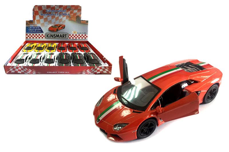 Металл.маш.инерц.откр-двери.»Lamborghini Aventador printing»(KT5355FD)