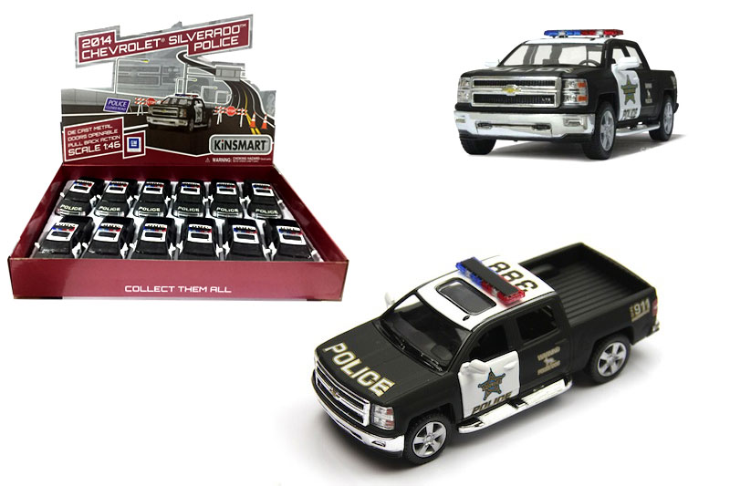 Металл.маш.инерц.откр-двери.»Chevrolet Silverado POLICE 2014г.(KT5381DP)