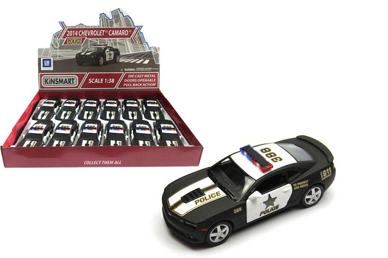 Металл.маш.инерц.откр-двери.»Chevrolet Camaro 2014г.POLICE.(KT5383DP)