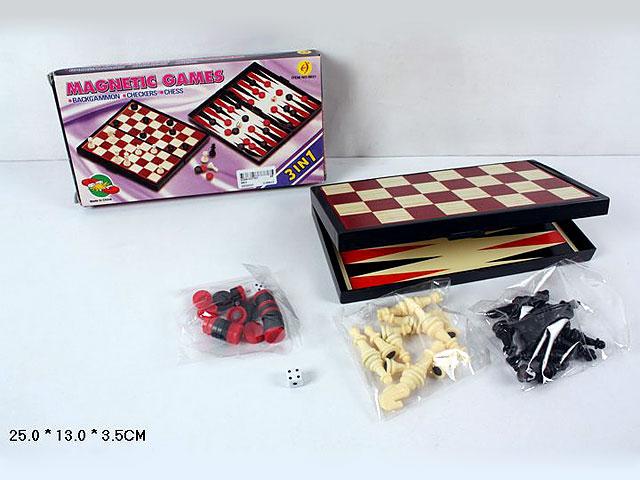 (K) Набор 3в1. Шашки-шахматы-нарды.Арт.9831.