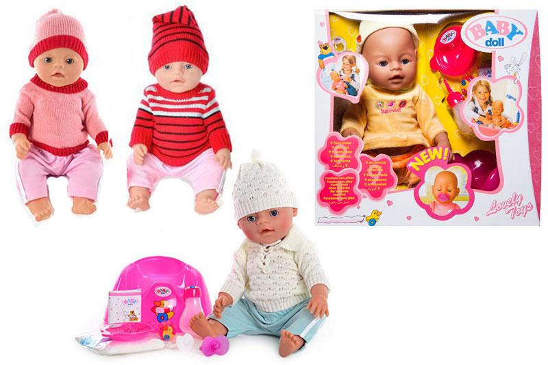 """(П)0Кукла""""Baby Doll""""с закрывающими глазами,слёзы.В костюмчике.В ассорт. (9 функций).Арт.8001-E/F/G/7"""