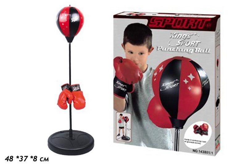 (П) Набор бокс.перчатки+груша.на подставке.Арт.143881-1