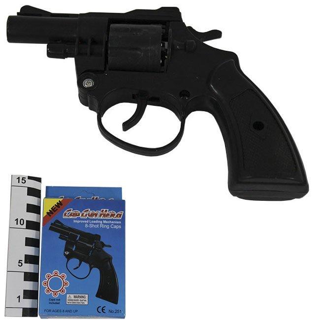 (K) Пистолет пластик.стреляет пистонами.Арт251.