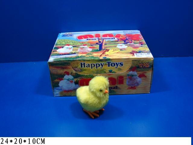 (K) Цыпленок заводной.в уп.12 шт. Цена за 12 штук.Арт.625