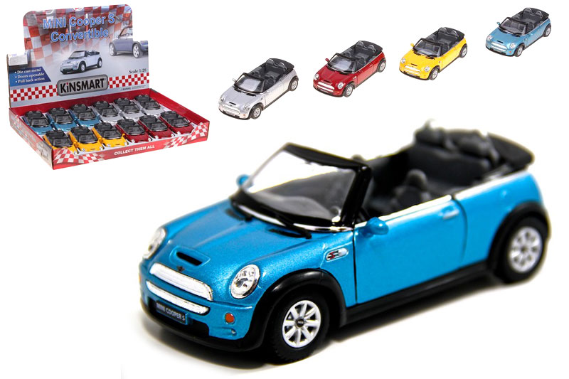 Маш.металл.  KT 5089D  Mini Cooper S Convertible. Размер.12*5см.откр.двери.