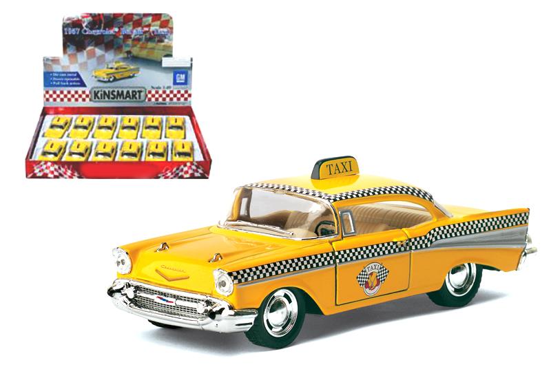 "10.Маш.металл. КТ 5360D   Chevrolet Bel Air1957.""ТАКСИ"".Размер.12*5см.откр.двери."