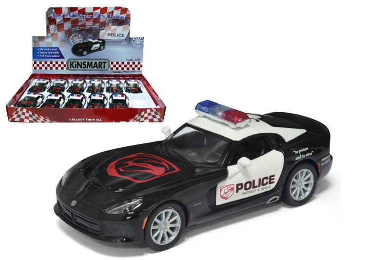 9.Маш.металл. KT5363DP   DODGE SRT VIPER GTS-Police.Размер.12*5см.откр.двери.