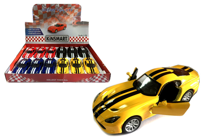 Маш.металл.KT5363FD   DODGE SRT VIPER GTS with printing.Размер.12*5см.