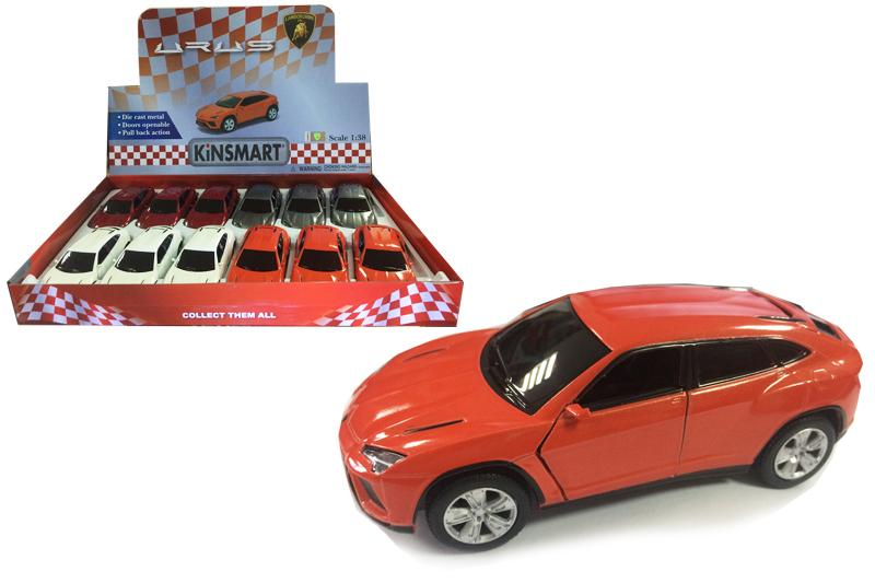 Маш.металл.  KT 5368D   Lamborghini URUS. Размер.12*5см. откр.двери.