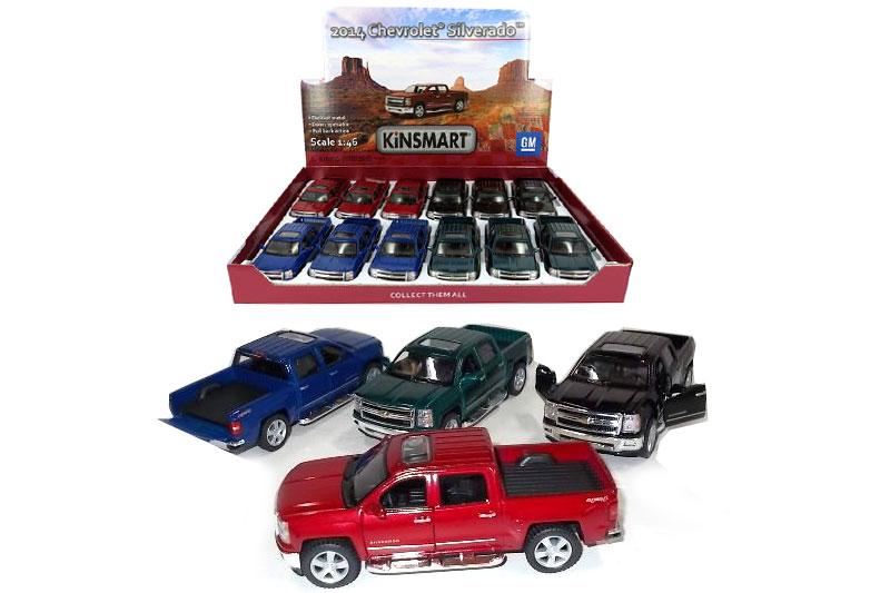 10.Маш.металл. KT 5381D   Chevrolet Silverado.Размер.12*5см.откр.двери.