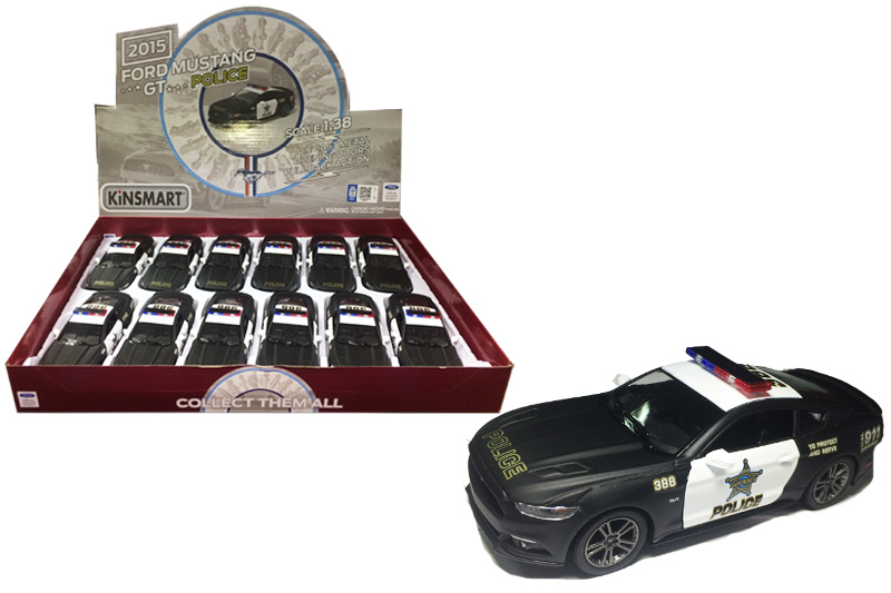 8.Маш.металл.KT5386PD   MUSTANG GT-POLICE 2015. Размер.12*5см.откр.двери.