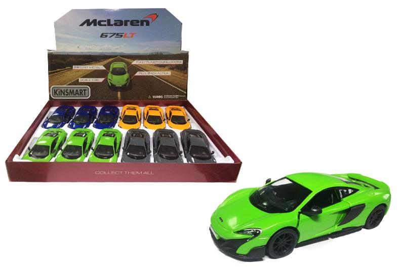 Маш.металл.KT5392D  McLaren 675LT. Размер.12*5см.откр.двери.