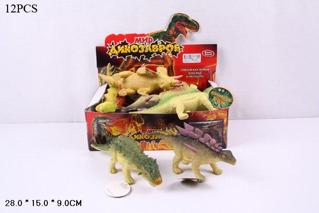 """(Ш)Резиновые звери""""Динозавры -Тянучки""""(Арт.7211)"""