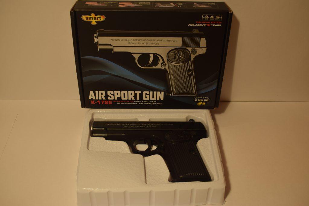 Игрушечный пистолет.(металл+пластик) (К.17SE) Размер упак.19*15см.