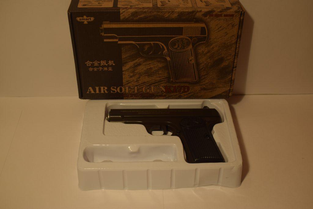 Игрушечный пистолет.(металл+пластик) (К.17D) Размер упак.22*14см.