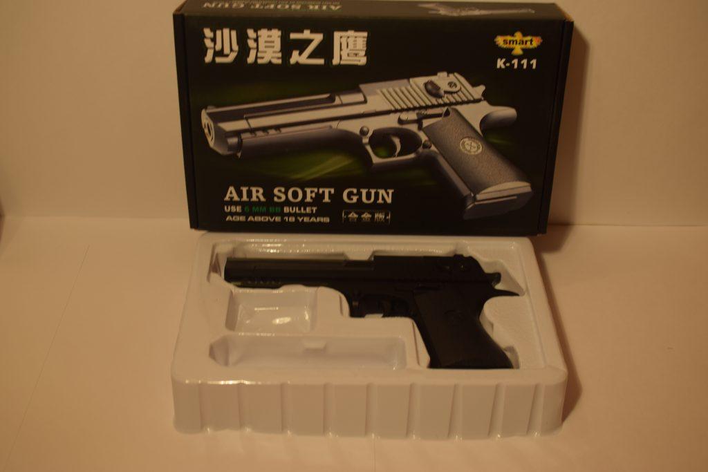 Игрушечный пистолет.(металл+пластик) (К.111) Размер упак.25*15см.