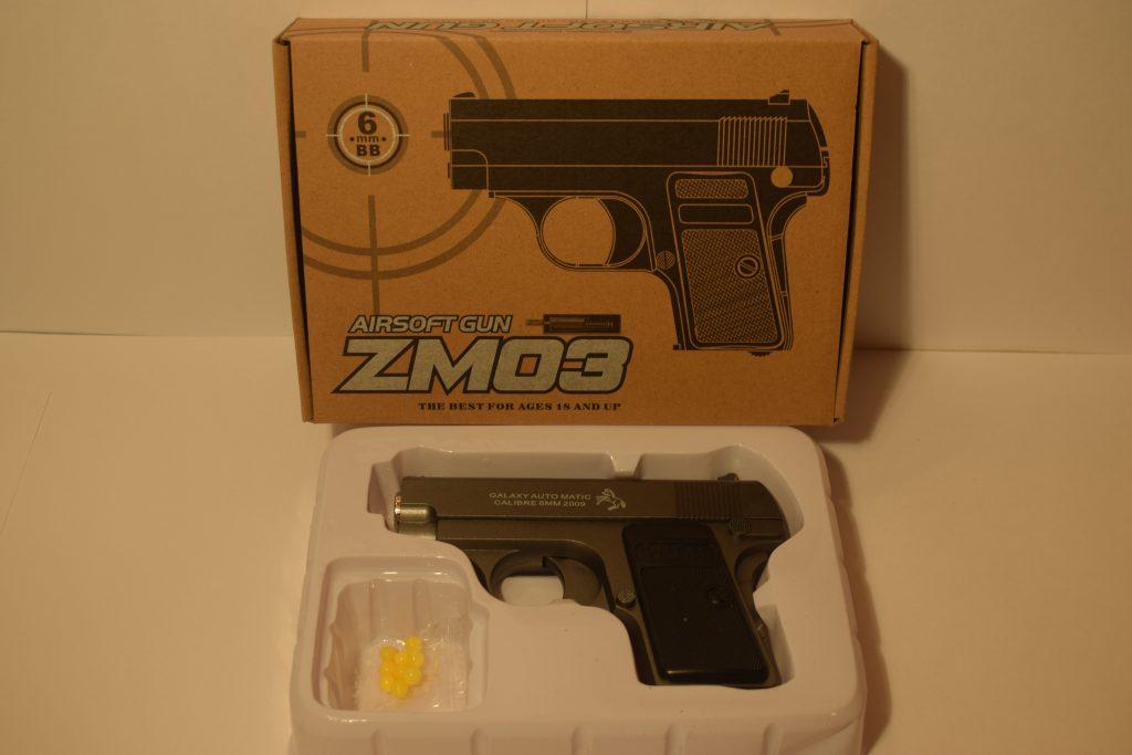 Игрушечный пистолет.(металл+пластик) (ZM03) Размер упак.19*14см.