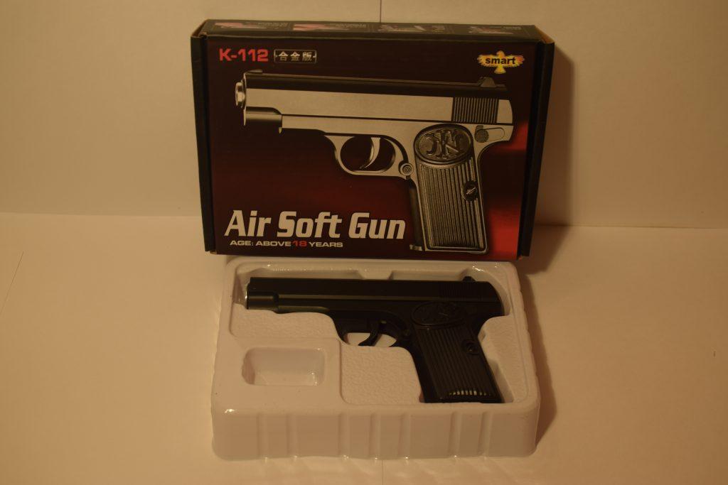 Игрушечный пистолет ( металл+пластик ) (К.112) Размер упак.18*13см.