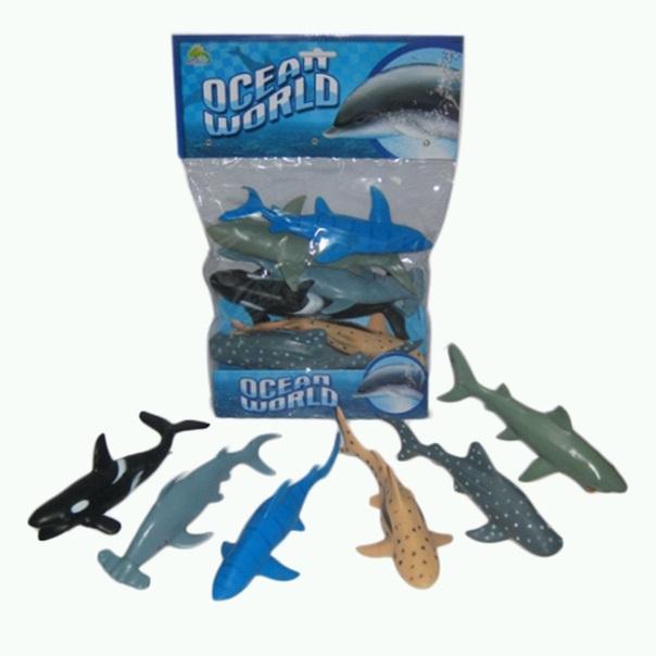 """(Д)0 Резиновые животные.""""Ocean world""""Цена за 6 штук.Арт.HY7-007A"""