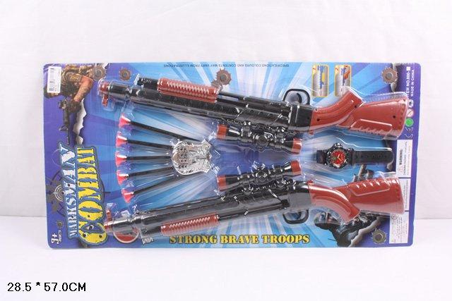 Два ружья на картоне.Стрелы на присосках.Арт.800-15