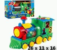 """(Д)3. Развевающая игрушка""""Паровозик"""" свет.звук.логика.в кор. Арт.3205"""