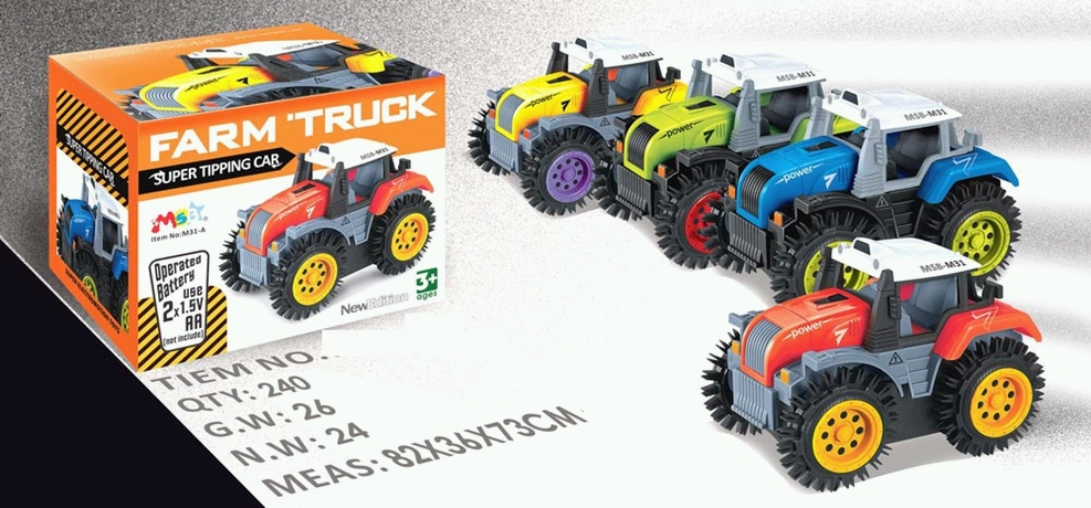 (Д)10 Трактор.перевертыш на батар.в кор.Арт.М31-А