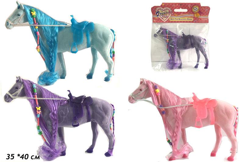 """(П)(С) Лошадь""""Princess Club"""" в ассорт.в пакете.можно плести косички.Арт.3306."""