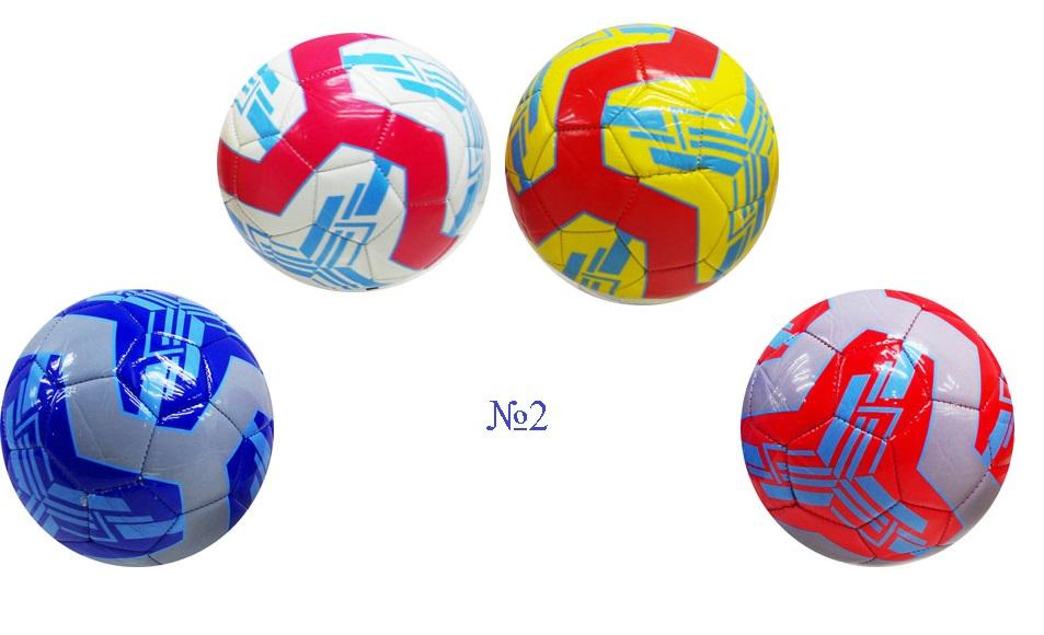 Мячи футбольные № 2, в ассортименте,разные цвета.вес 110гр.