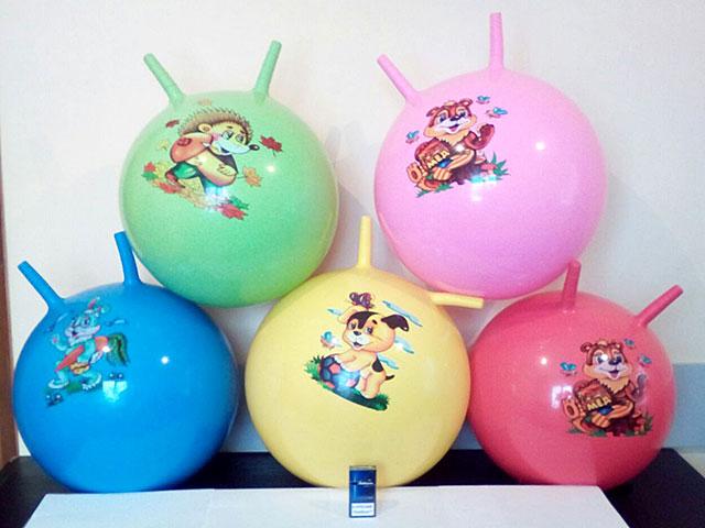ZZZ. Мяч гимнастический с рожками.в ассорт.(55см)Арт.T 03612