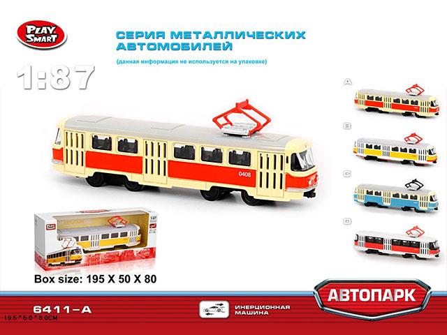 ZZZ. Трамвай металл.(1:87) Арт.A6411A