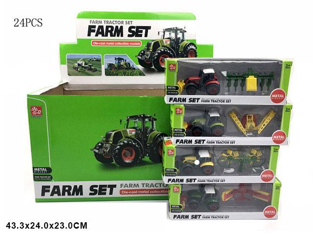 ZZZ. Трактор металл.Арт.A82002-4 . Цена за 24 штуки.