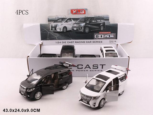 """ZZZ.Машина металл""""Тойота"""" (1:24)все откр.свет.звук.Арт.A923-0 Цена за 4 штуки."""