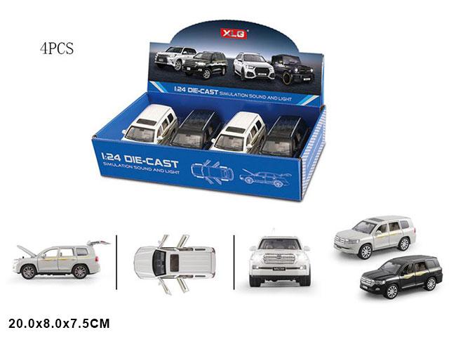 """ZZZ. Машина металл""""Тойота""""(1:24) все откр.свет.звук.Арт.A923W. Цена за 4 штуки."""